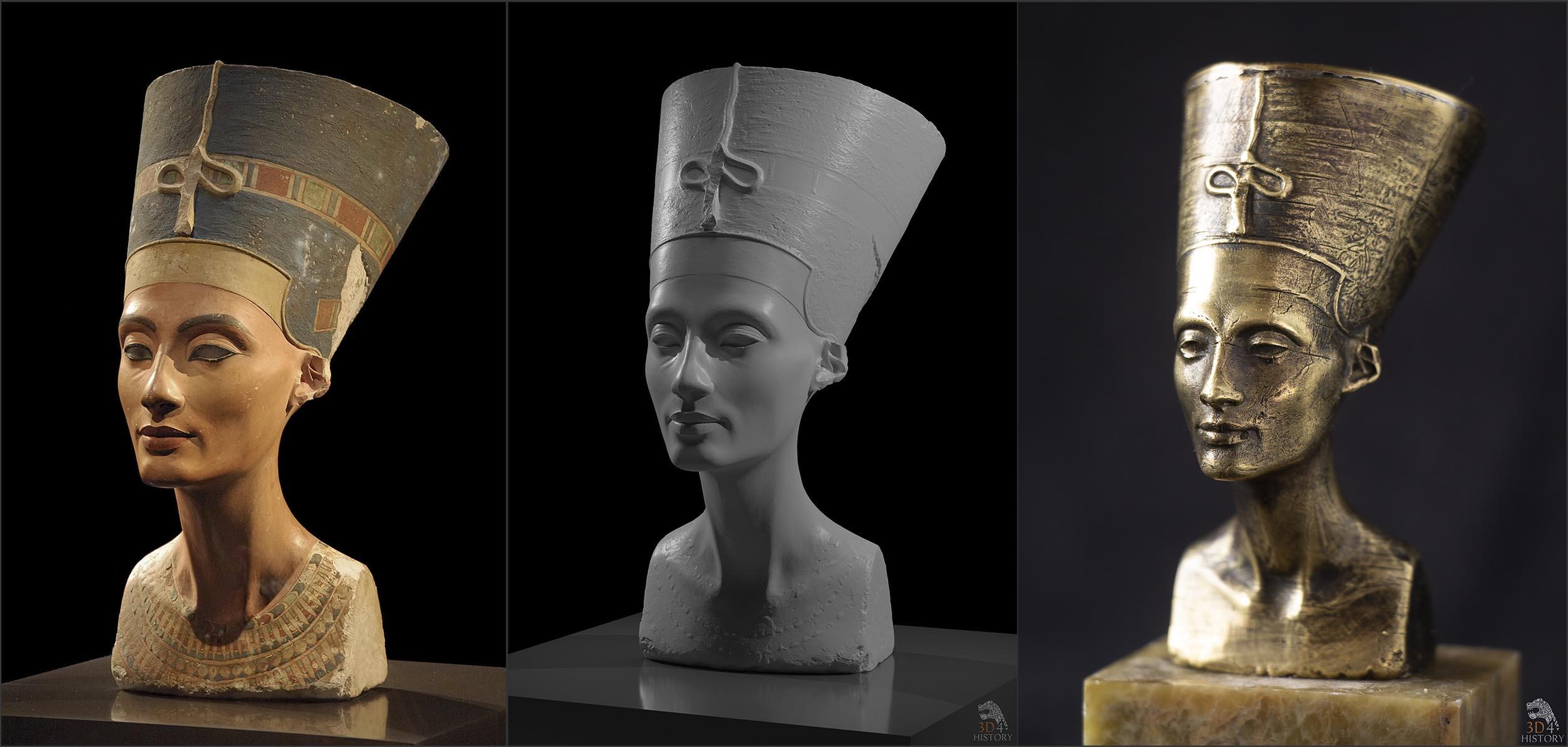 Nefertiti: zdjęcie, model 3D, odlew